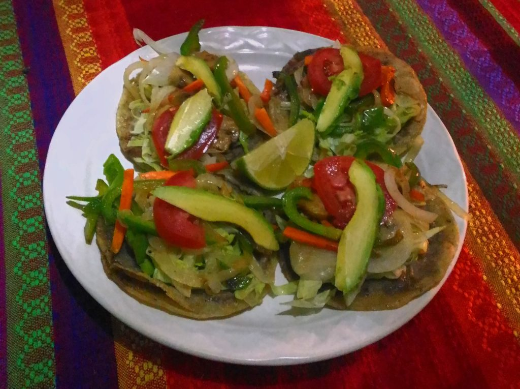 vegan food at Chile Picante in Cobá