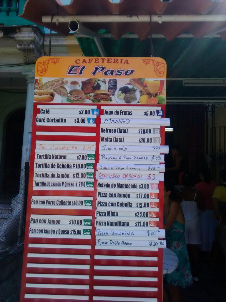 egan food in cuba