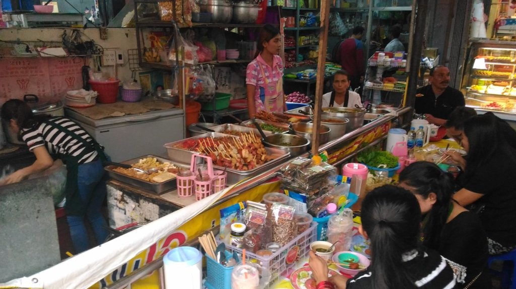 vegan stall at the Hindu Temple in Bangkok