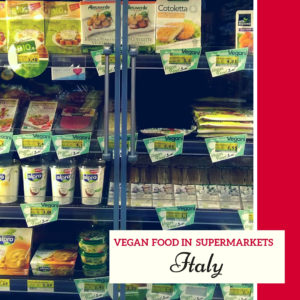 vegan food in italian supermarkets