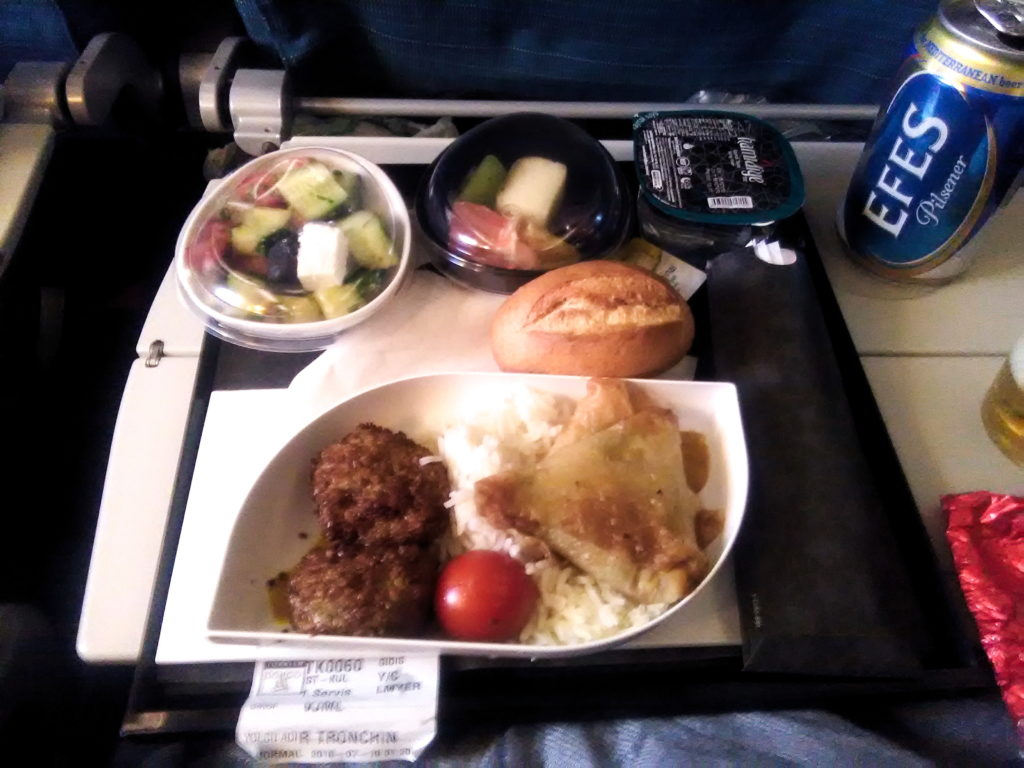lunch on turkish airlines