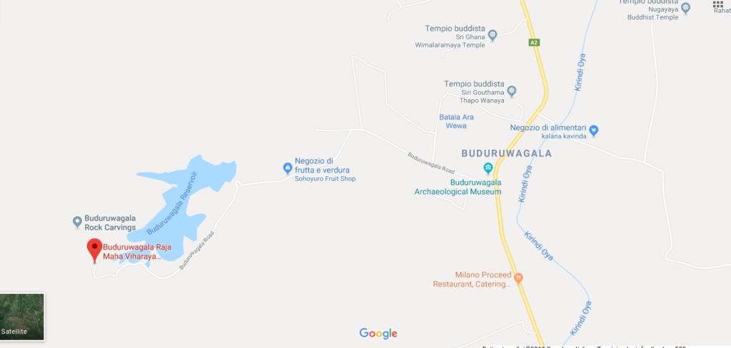 buduruwagala temple map